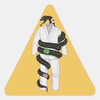 Brazilian Jiu Jitsu Snake Triangle Sticker