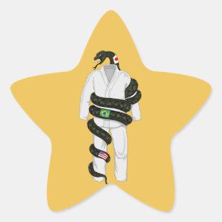 Brazilian Jiu Jitsu Snake Star Sticker