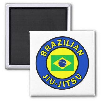 Brazilian Jiu-Jitsu Square Magnet