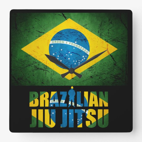 Brazilian Jiu Jitsu - Weathered Flag Wall Clock