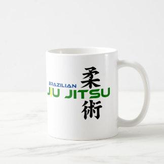 Brazilian Jiu Jitsu with Japanese Characters Mug