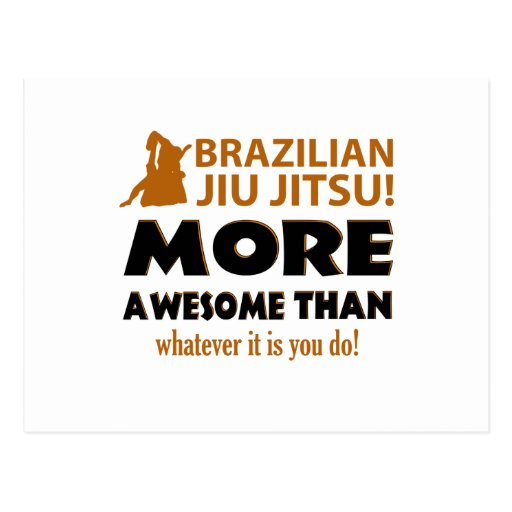 Brazilian Jiu Jutsu Martial arts gift items Postcards