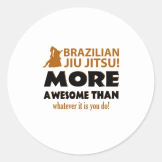 Brazilian Jiu Jutsu Martial arts gift items Round Stickers