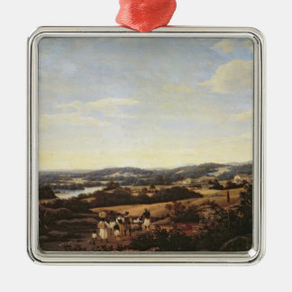 Brazilian Landscape with a Plantation Christmas Ornament