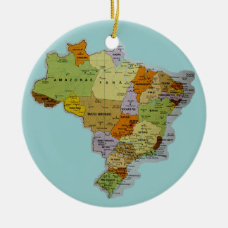 Brazilian Map Christmas Ornament