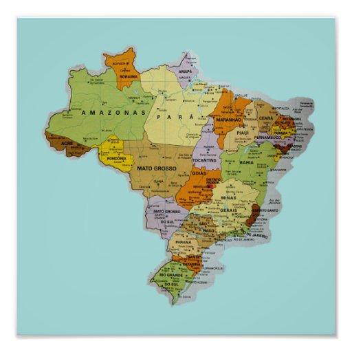 Brazilian Map Photo Print