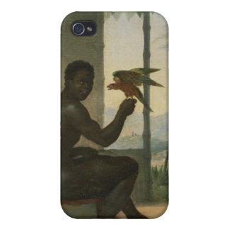 Brazilian negro with Tropical Bird iPhone 4 Case