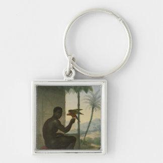Brazilian negro with Tropical Bird Key Ring
