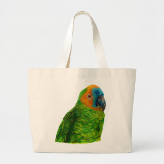 Brazilian Parrot Large Tote Bag