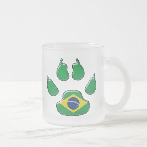 Brazilian patriotic dog coffee mug