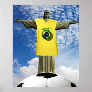 Brazilian Soccer Brazil winners 2014 Soccer Poster