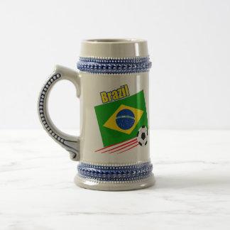 Brazilian Soccer Team Beer Steins