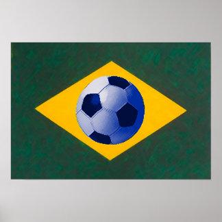 Brazilian soccer team print