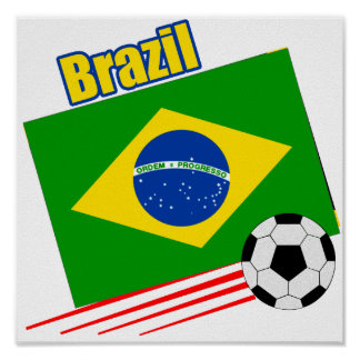 Brazilian Soccer Team Posters