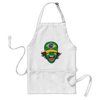 Brazilian Sports Fan Standard Apron