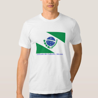 Brazilian state of Paraná Flag T Shirts