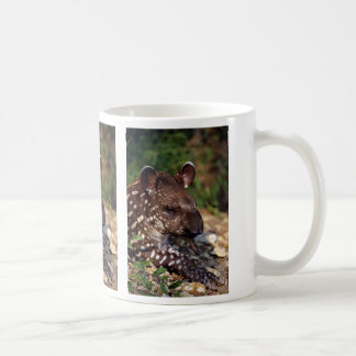 Brazilian tapir, young calf coffee mug
