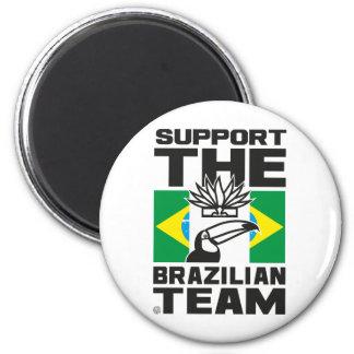 BRAZILIAN TEAM 6 CM ROUND MAGNET