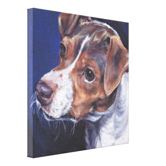 brazilian terrier art on Gallery Wrapped Canvas