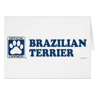 Brazilian Terrier Blue Greeting Card