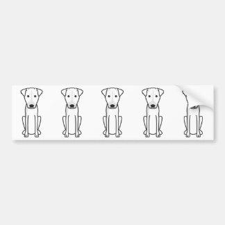 Brazilian Terrier Dog Cartoon Bumper Sticker