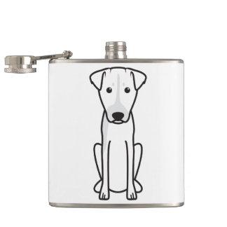 Brazilian Terrier Dog Cartoon Flask