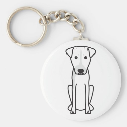 Brazilian Terrier Dog Cartoon Keychain