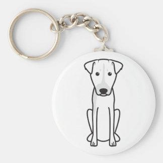 Brazilian Terrier Dog Cartoon Keychain