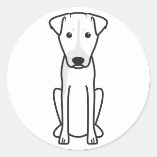 Brazilian Terrier Dog Cartoon Round Sticker