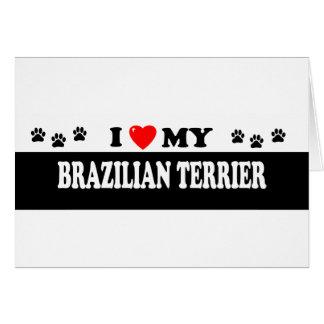 BRAZILIAN TERRIER GREETING CARD