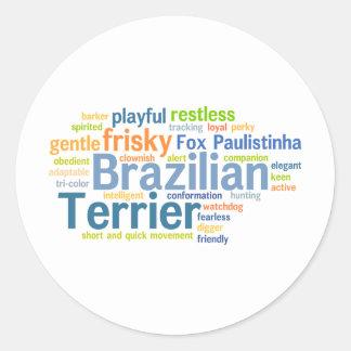 Brazilian Terrier Round Sticker