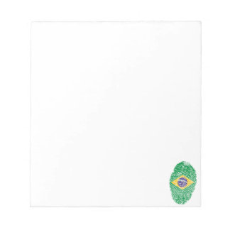 Brazilian touch fingerprint flag notepad