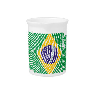 Brazilian touch fingerprint flag pitcher