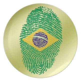 Brazilian touch fingerprint flag plate
