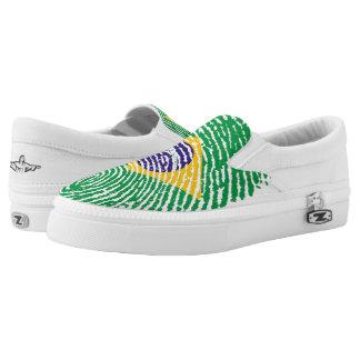 Brazilian touch fingerprint flag Slip-On shoes