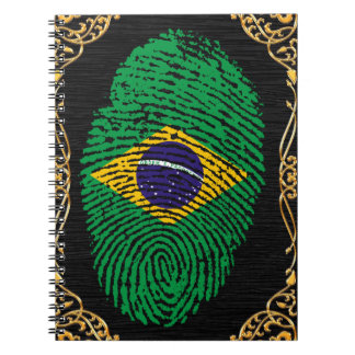 Brazilian touch fingerprint flag spiral notebook