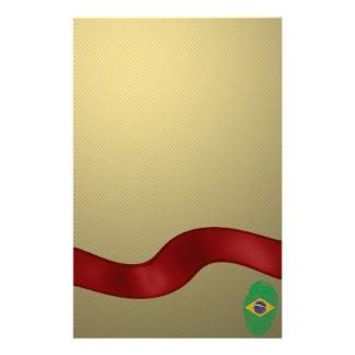 Brazilian touch fingerprint flag stationery