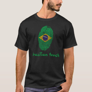 Brazilian touch fingerprint flag T-Shirt
