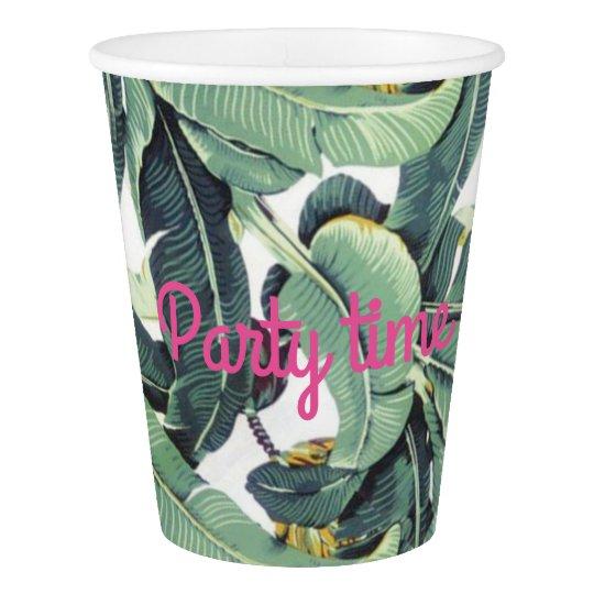 Braziliance palm print party cup