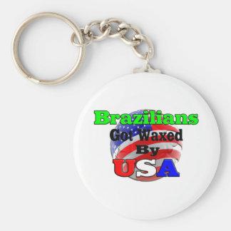 Brazilians Got Waxed By USA Key Chain
