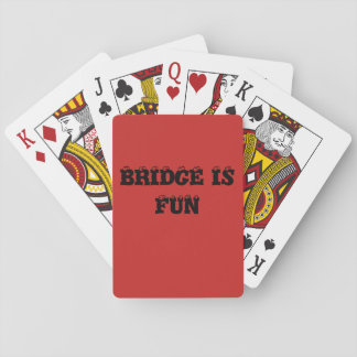 BRDIGE IS FUN PLAYING CARDS