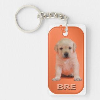 Bre Dog Tag Keychain