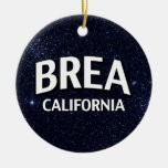 Brea California Christmas Ornaments