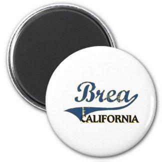 Brea California City Classic 6 Cm Round Magnet