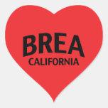 Brea California Heart Stickers