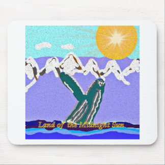 Breach to the Midnight sun Humpback Whale Mousepad