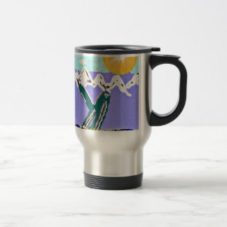 Breach to the Midnight sun Humpback Whale Stainless Steel Travel Mug