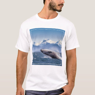 Breaching Humpback Whale In Alaska T-Shirt