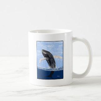 Breaching Whale Basic White Mug