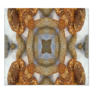 Bread abstract pattern photographic print